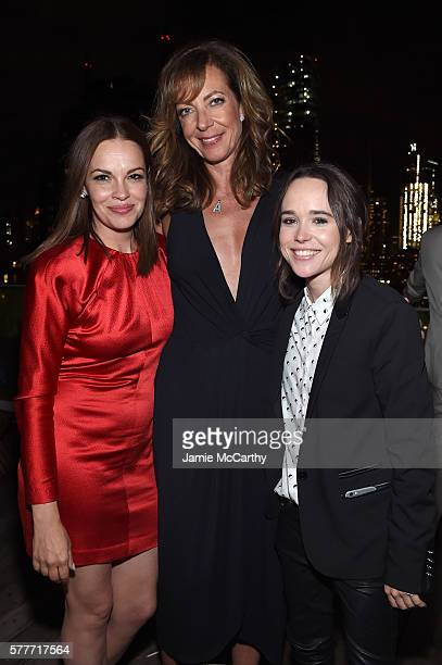 """Tammy Blanchard, Allison Janney and Ellen Page attend the after party for a special screening of """"Tallulah"""" hosted by Netflix at The Jimmy at the..."""