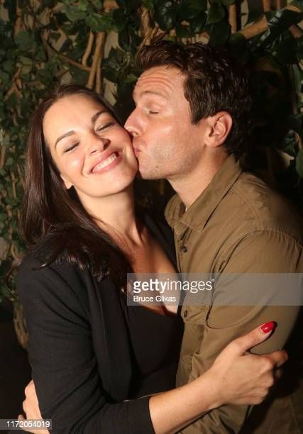Tammy Blanchard and Jonathan Groff pose at a photo call for the new production of Little Shop of Horrors at Common Ground on September 3 2019 in New...