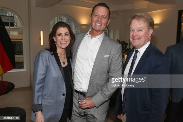 Tammy Bruce Ambassador Richard Grenell and James Higgins attend Ambassador Grenell Goodbye Bash on May 6 2018 in New York City