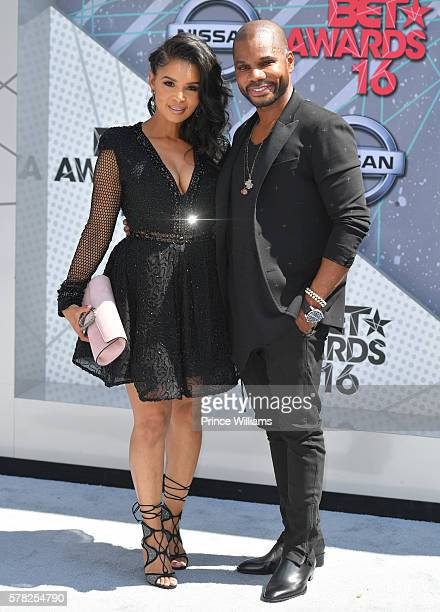 Tammy Collins and Kirk Franklin attend the 2016 BET awards at Microsoft Theater on June 26 2016 in Los Angeles California