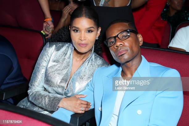 Tammy Collins and Kirk Franklin attend the 2019 BET Awards at Microsoft Theater on June 23 2019 in Los Angeles California