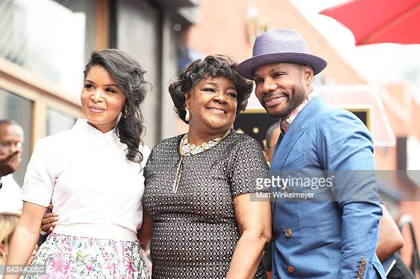 Tammy Collins recording artists Shirley Caesar and Kirk Franklin attend a ceremony honoring Shirley Caesar with a Star on The Hollywood Walk of Fame...