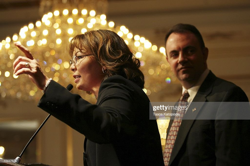 Tammy Duckworth concedes the Sixth District Congressional seat to Republican Peter Roskam as her husband Bryan Bowlsbey listens on November 7, 2006 in Oakbrook, Illinois. Duckworth is a former helicopter pilot who lost both of her legs in Iraq.