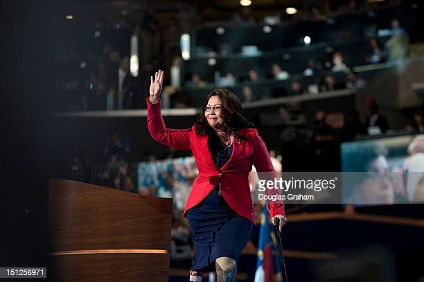 Tammy Duckworth Democratic candidate for Representative of Illinois during the Democratic National Convention at the Time Warner Cable Arena in...