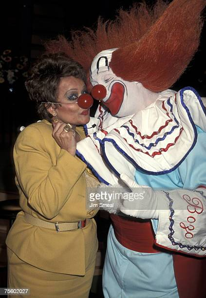 Tammy Faye Bakker Messner and Bozo The Clown