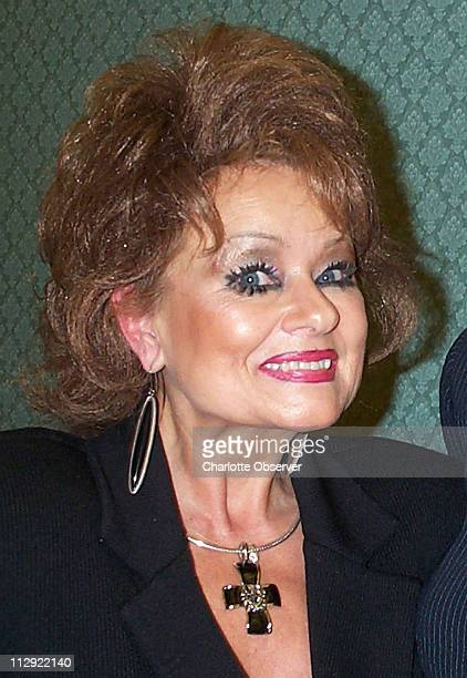 Tammy Faye Bakker Messner appears at the Monroe Rotary Club in Monroe North Carolina in October 2002 Onetime wife of former television evangelist Jim...