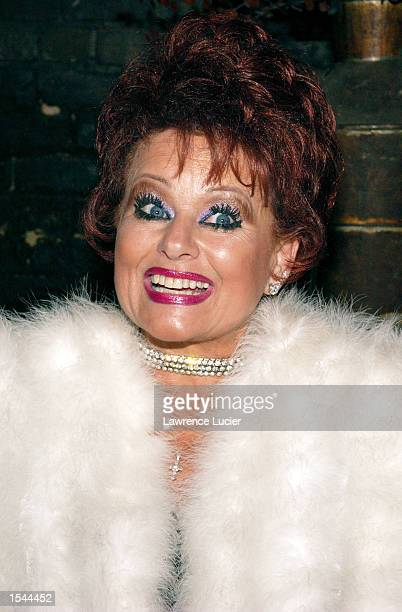 Tammy Faye Bakker Messner performs at the Tammy Faye Tastes New York show May 21 2002 in New York City The performance raised funds for the Fresh Air...