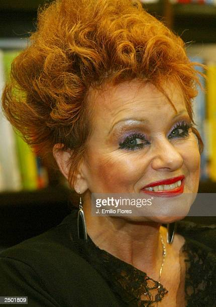 Tammy Faye Messner poses at a book signing party for her new book on September 16 2003 in Los Angeles California Tammy Faye's newly released book is...