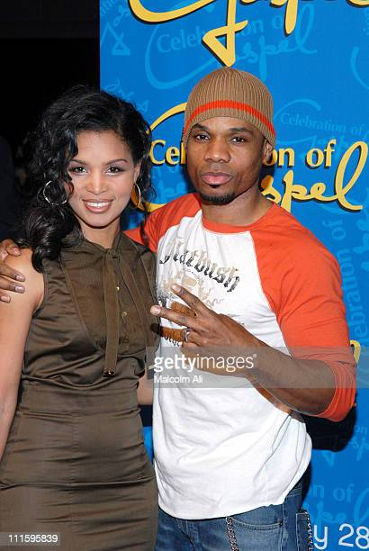 Tammy Franklin and Kirk Franklin during BET's Celebration of Gospel VII Red Carpet at Orpheum Theatre in Hollywood California United States