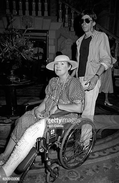 Tammy Grimes attends Joan Collins Hat Collection Fashion Show on August 12 1985 at the Pierre Hotel in New York City