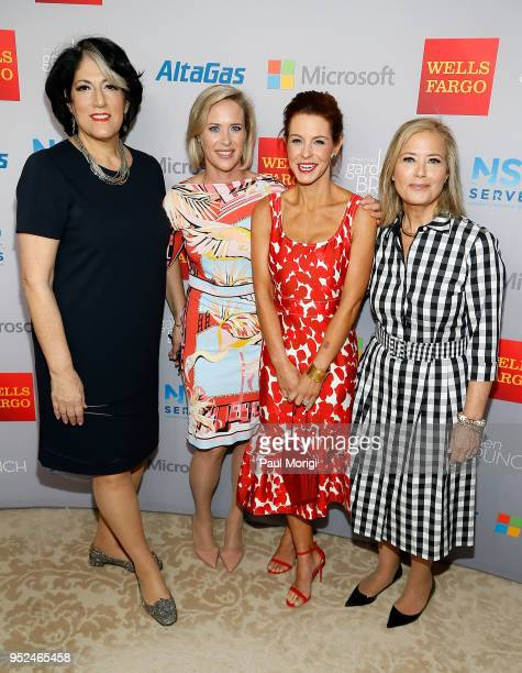Tammy Haddad Megan Murphy Stephanie Ruhle and Hilary Rosen attend the 25th annual White House Correspondents' Garden Brunch at BeallWashington House...