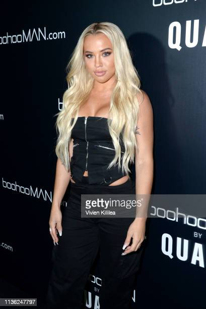 Tammy Hembrow attends the boohooMAN x Quavo Launch Party at The Sunset Room on April 10 2019 in Los Angeles California