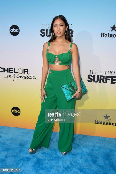 """Tammy Ly attends ABC's """"Bachelor In Paradise"""" And """"The Ultimate Surfer"""" Premiere at Fairmont Miramar - Hotel & Bungalows on August 12, 2021 in Santa..."""