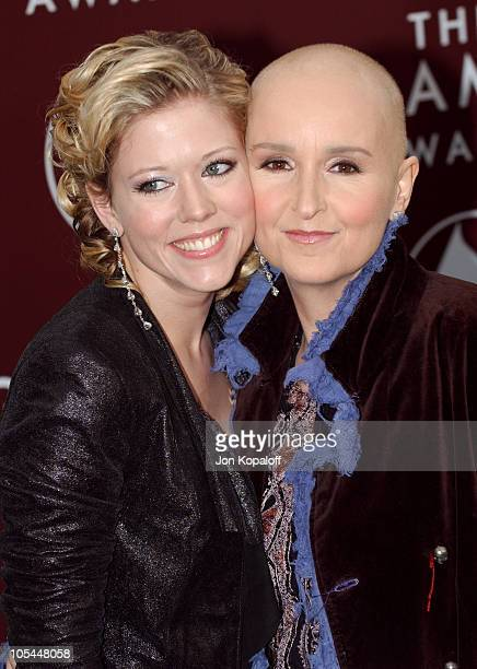 Tammy Lynn Michaels and Melissa Etheridge during The 47th Annual GRAMMY Awards Arrivals at Staples Center in Los Angeles California United States