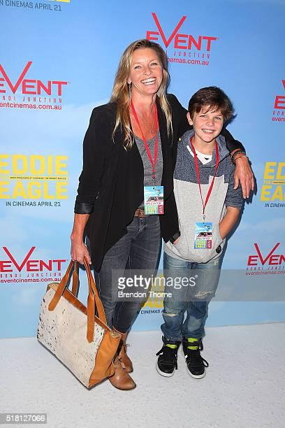 Tammy MacIntosh and Ben MacIntosh arrives ahead of the Eddie The Eagle screening at Event Cinemas Bondi Junction on March 30 2016 in Sydney Australia