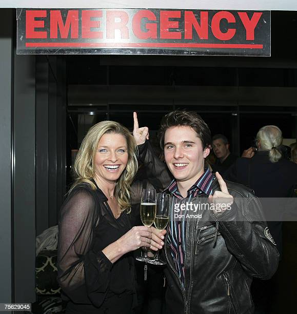 Tammy McIntosh and Andrew Soupans attend the party to celebrate 400 episodes of popular Australian soap All Saints at The Astra Bar Star City on July...