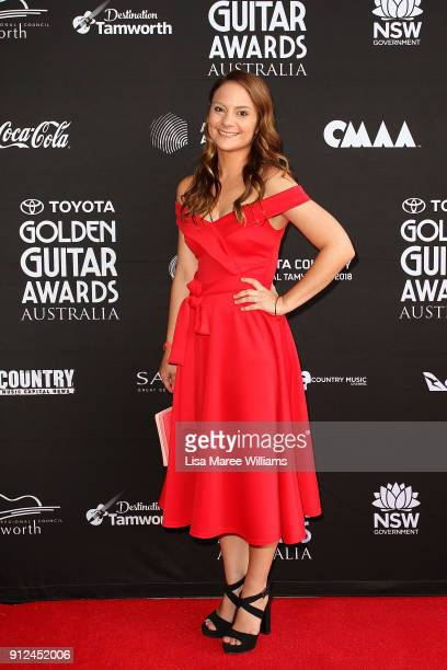 Tammy Moxon arrives for the 2018 Toyota Golden Guitar Awards on January 27 2018 in Tamworth Australia