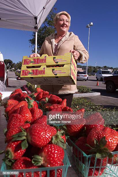 Tammy Nelson who coordinates the salad bar project at Ventura schools shops for salad fixings at the farmers market at the ventura mall Wednesday Feb...
