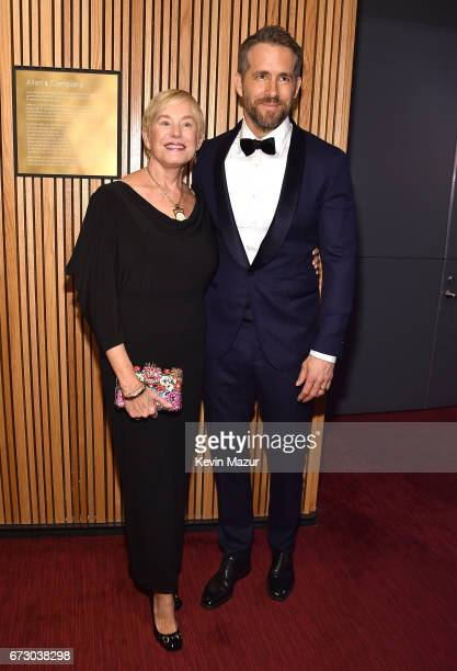 Tammy Reynolds and Ryan Reynolds attend 2017 Time 100 Gala at Jazz at Lincoln Center on April 25, 2017 in New York City.
