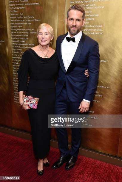 Tammy Reynolds and Ryan Reynolds attend 2017 Time 100 Gala at Frederick P. Rose Hall, Jazz at Lincoln Center on April 25, 2017 in New York City.
