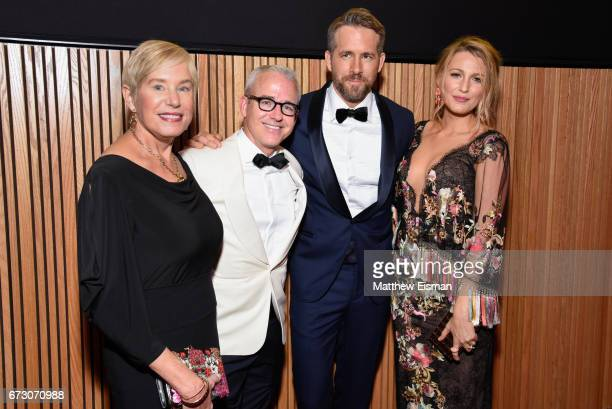 Tammy Reynolds, Jess Cagle, Ryan Reynolds and Blake Lively attend 2017 Time 100 Gala at Frederick P. Rose Hall, Jazz at Lincoln Center on April 25,...