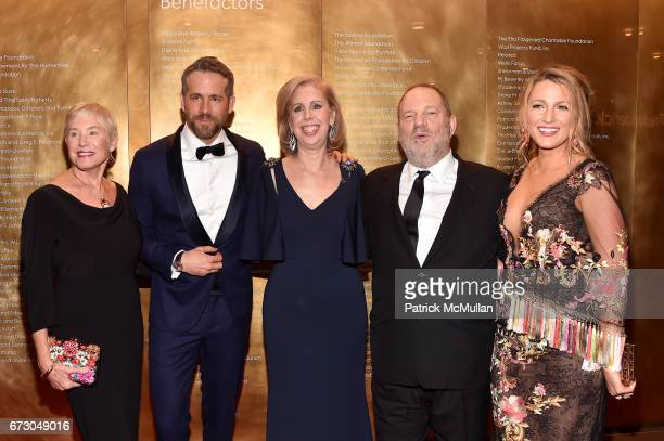 Tammy Reynolds, Ryan Reynolds, Jane Gibbs, Harvey Weinstein and Blake Lively attend the 2017 TIME 100 Gala at Jazz at Lincoln Center on April 25,...