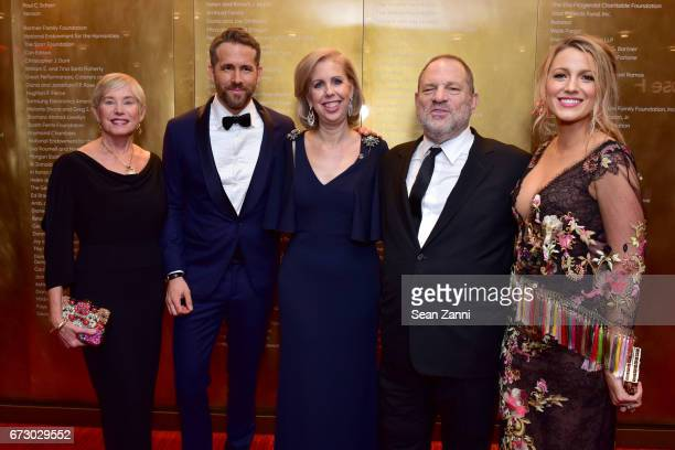 Tammy Reynolds, Ryan Reynolds, Nancy Gibbs, Harvey Weinstein and Blake Lively attend the 2017 TIME 100 Gala at Jazz at Lincoln Center on April 25,...
