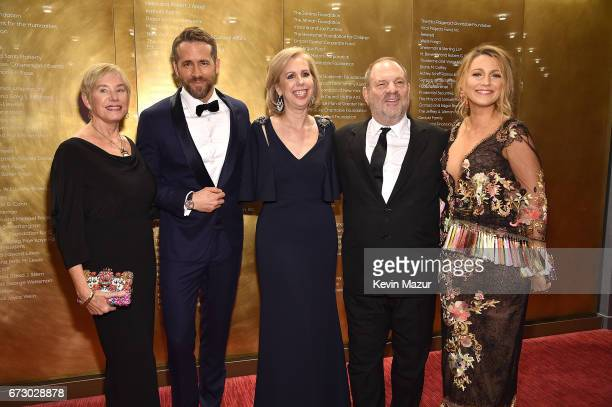 Tammy Reynolds, Ryan Reynolds, TIME managing editor Nancy Gibbs, Harvey Weinstein and Blake Lively attend 2017 Time 100 Gala at Jazz at Lincoln...