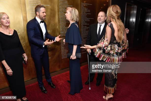 Tammy Reynolds, Ryan Reynolds, TIME managing editor Nancy Gibbs, Harvey Weinstein and Blake Lively attend 2017 Time 100 Gala at Frederick P. Rose...