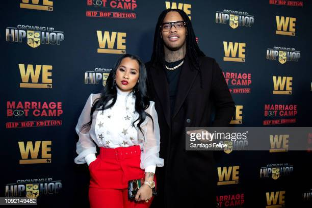 Tammy Rivera and Waka Flocka attend the exclusive premiere for 'WE TV hosts Hip Hop Thursday's at Nightingale on January 09 2019 in West Hollywood...
