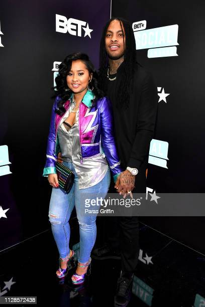 Tammy Rivera and Waka Flocka Flame attend the 2019 BET Social Awards at Tyler Perry Studio on March 3 2019 in Atlanta Georgia