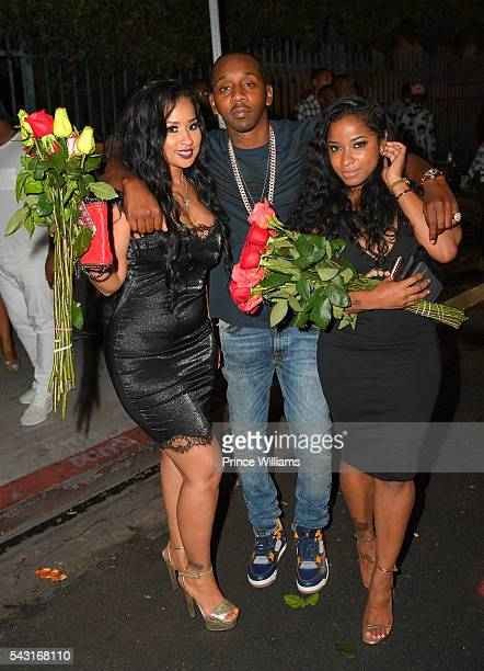 Tammy Rivera Ruggs Antonia Toya Wright spotted outside of Playhouse on June 25 2016 in Los Angeles California