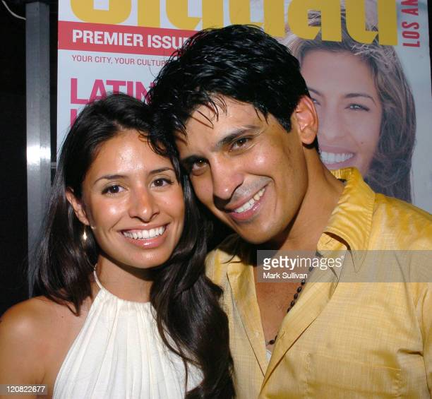 Tammy Trull and Antonio Rufino during 'Tu Ciudad' Magazine Launch Party Red Carpet and Inside at The Roosevelt Hotel in Hollywood California United...