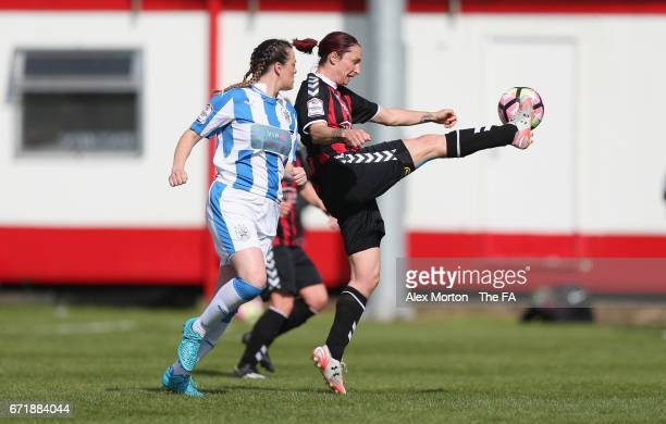 Tammy Waine of Lewes in action during the FA Womens Premier League Plate Final match between Huddersfield Town Ladies and Lewes Ladies FC at St James...