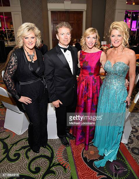 Tammy York Day Senator Rand Paul of Kentucky Kelley Ashby Paul and Tonya York Dees attend the 141st Kentucky Derby Unbridled Eve Gala at Galt House...