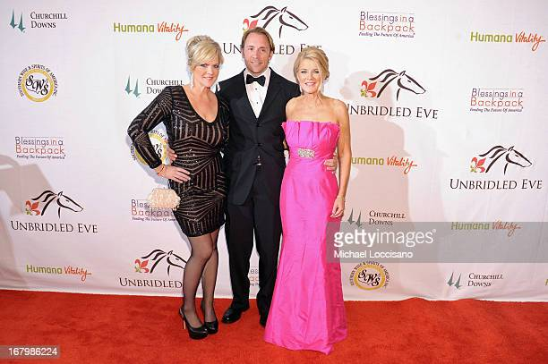 Tammy York Day Troy Hanson and Tonya York Dees attend the Unbridled Eve Gala for the 139th Kentucky Derby at The Galt House Hotel Suites' Grand...