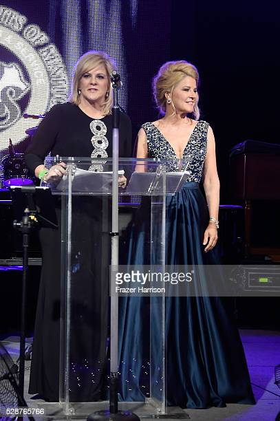 Tammy YorkDay and Tonya YorkDees speak onstage during the Unbridled Eve Gala during the 142nd Kentucky Derby on May 6 2016 in Louisville Kentucky