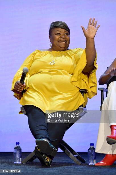 """Tammye Hicks speaks onstage during the Netflix FYSEE """"Queer Eye"""" panel and reception at Raleigh Studios on May 16, 2019 in Los Angeles, California."""