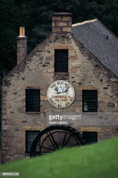 Tamnavulin watermill near Glenlivet The wheel turns the grindstone of the distillery's mill Images and captions taken from the book La Magie du Whisky