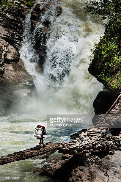 Tamor Bridge in Kangchenjunga area, Nepal