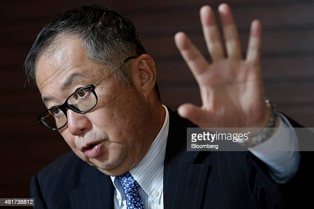 Tamotsu Adachi managing director of Japan at Carlyle Group speaks during an interview at the company's offices in Tokyo Japan on Tuesday Sept 29 2015...