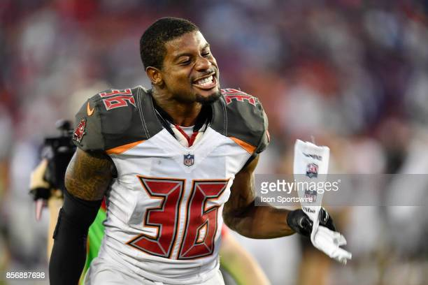 Tampa Bay Buccaneers cornerback Robert McClain during an NFL football game between the New York Giants and the Tampa Bay Buccaneers on October 01 at...