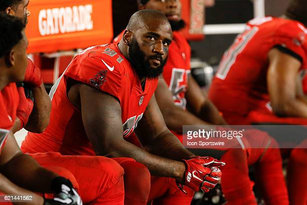 Tampa Bay Buccaneers defensive end Robert Ayers during the NFL game between the Atlanta Falcons and Tampa Bay Buccaneers on November 03, 2016 at...