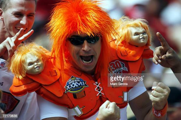 Tampa Bay Buccaneers fan shows his support against the Cincinnati Bengals on October 15 2006 at Raymond James Stadium in Tampa Florida The Buccaneers...