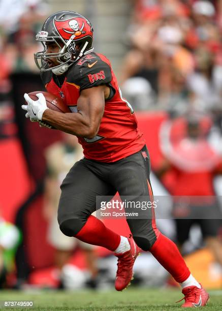 Tampa Bay Buccaneers running back Doug Martin carries the ball during the second half of an NFL game between the New York Jets and the Tampa Bay...