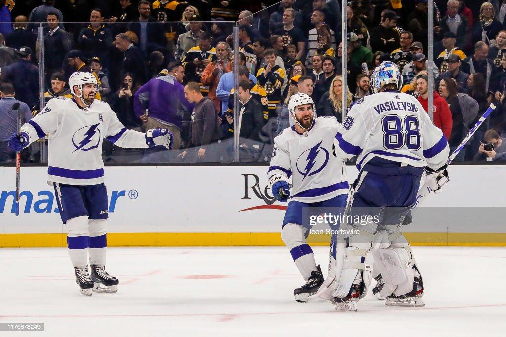 NHL: OCT 17 Lightning at Bruins : News Photo