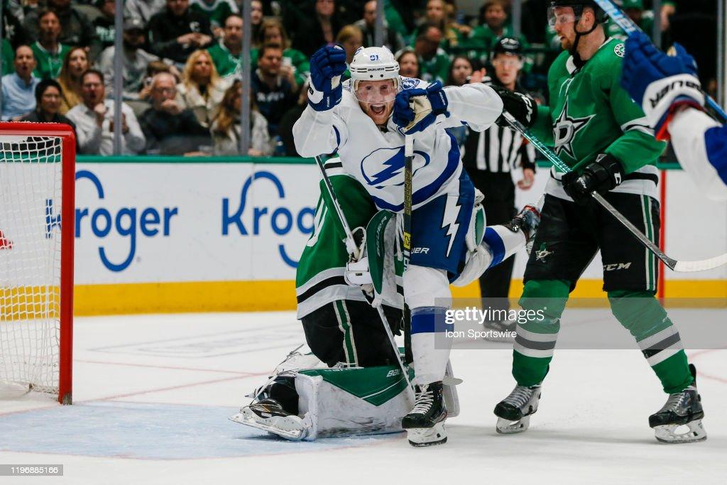 NHL: JAN 27 Lightning at Stars : News Photo