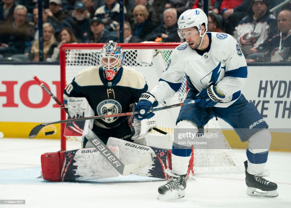 NHL: FEB 10 Lightning at Blue Jackets : News Photo
