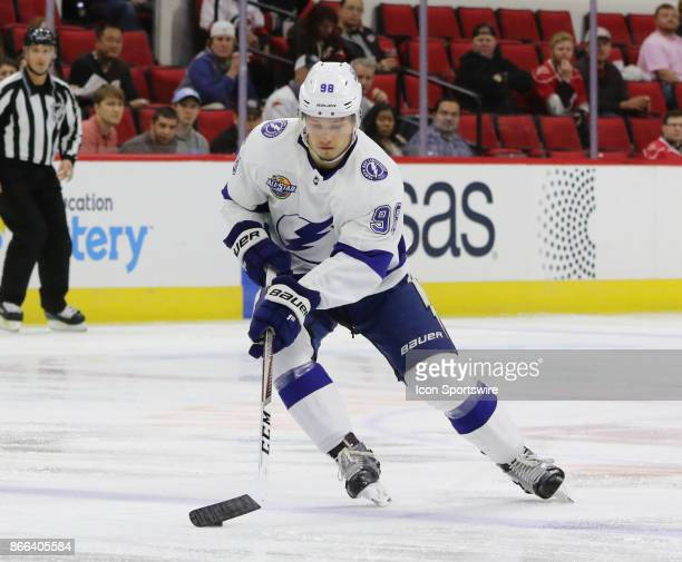 Tampa Bay Lightning Defenseman Mikhail Sergachev during the 1st period of the Carolina Hurricanes game versus the Tampa Bay Lightning on October 24...
