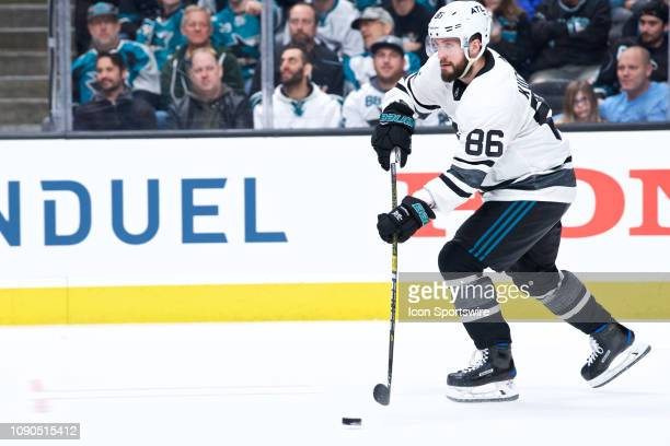 Tampa Bay Lightning forward Nikita Kucherov carries the puck at the NHL AllStar Game on January 26 at SAP Center in San Jose CA